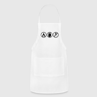 camping symbol - Adjustable Apron