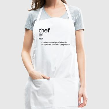 Original text design CHEF definition dictionary - Adjustable Apron