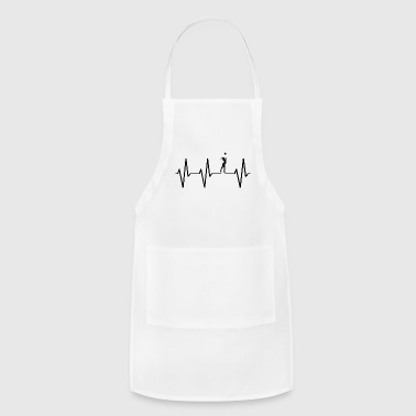 My heart beats for volleyball! heartbeat gift - Adjustable Apron