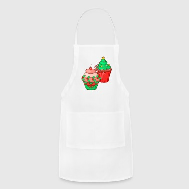 Christmas Cupcake Muffin Bakery Sweets Candy Cake - Adjustable Apron