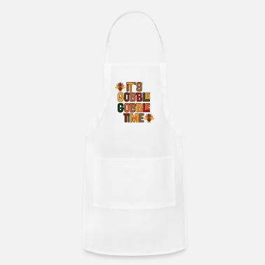 Cute Thanksgiving Gobble Gobble Time - Adjustable Apron