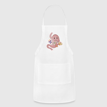 Stomach with butterflies - Adjustable Apron