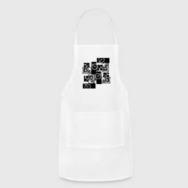 Bicycle Rectangles - Adjustable Apron