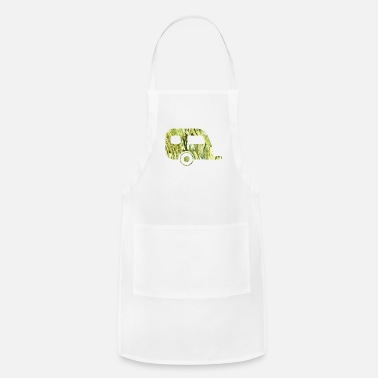 Art artTS collage art camper trailer cammo - Apron