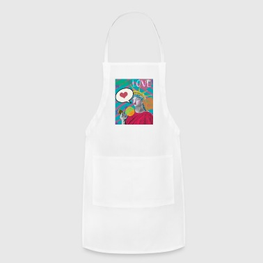 Lady Liberty Social Media Love PopArt - Adjustable Apron