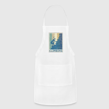 Retro Vintage Style Rock Climbing Climber Mountain - Adjustable Apron