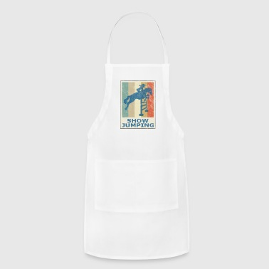 Retro Vintage Style Horses Riding Show Jumping - Adjustable Apron