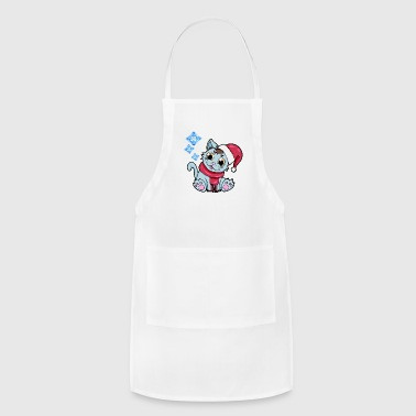 Head Scarf xmas kitty Cat Christmas Winter - Adjustable Apron