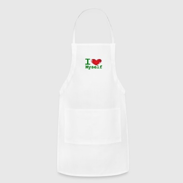 i Love Myself -Green- Best Selling Design - Adjustable Apron