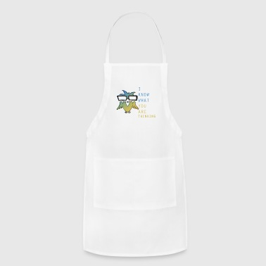 I know what you are thinking (owl) - Adjustable Apron