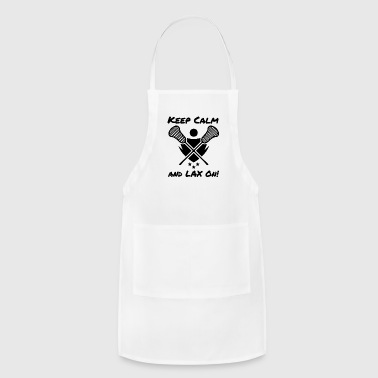 Lacrosse Keep Calm and LAX On Lacrosse Player - Adjustable Apron
