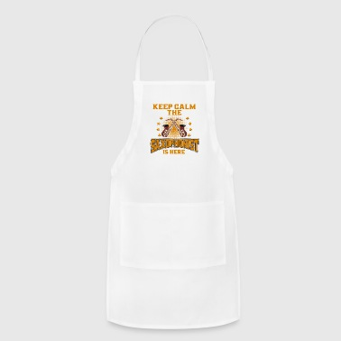 Mouth SAXOPHONIST - Keep Calm. The Saxophonist Is Here - Adjustable Apron