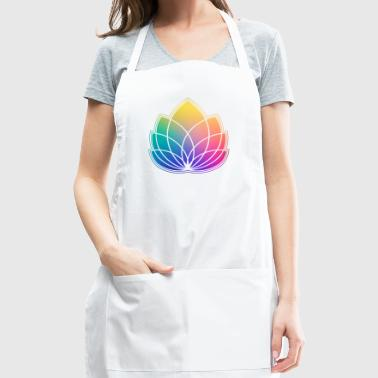 Colorful Abstract Yoga Geometry Blossom / Flower - Adjustable Apron