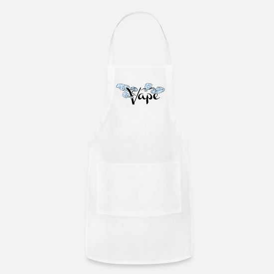 Best Aprons - Best Selling Vape Design - Apron white
