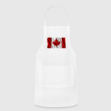 Wavy canadian maple leaf flag design - Adjustable Apron