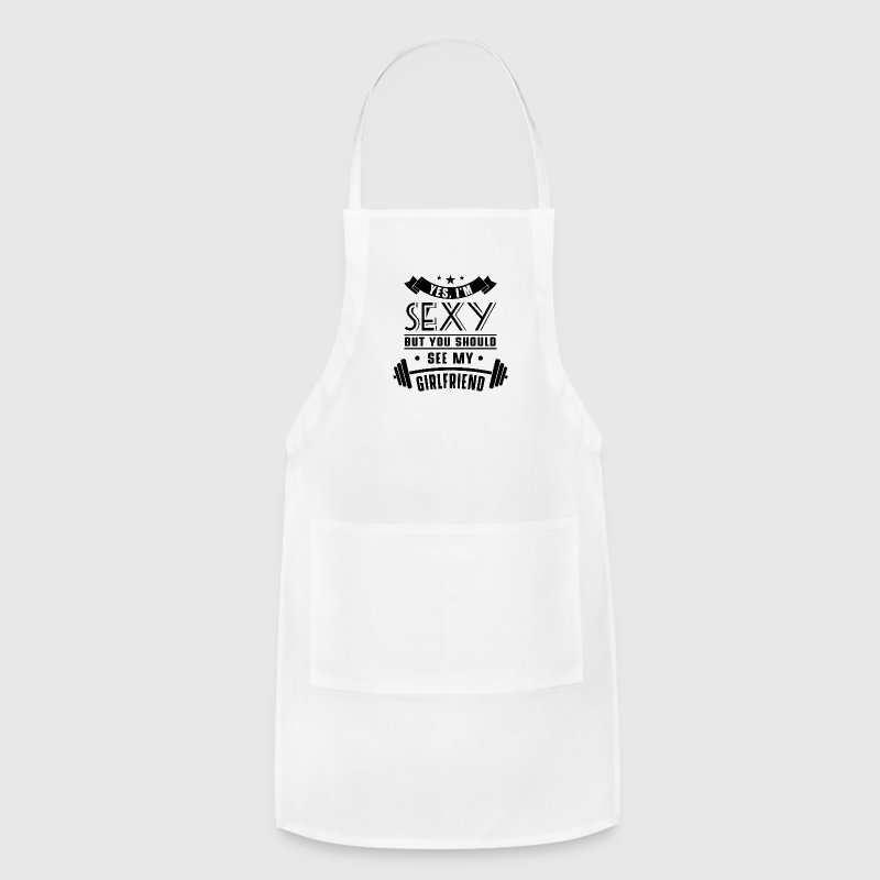 Sexy see my girlfriend - Adjustable Apron