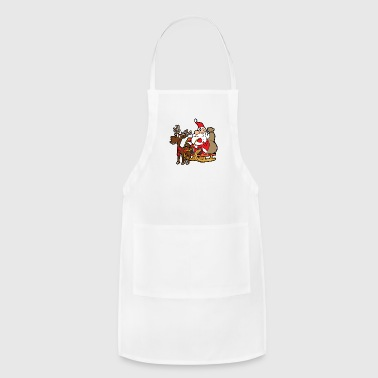 Funny Santa Claus Xmas Merry Christmas Reindeer - Adjustable Apron