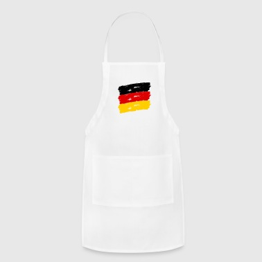 Federal Republic Of Germany Fahne Deutschland handpainted - Adjustable Apron