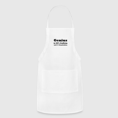 Text Genius is 99% Coffein and 1% Inspiration - Adjustable Apron