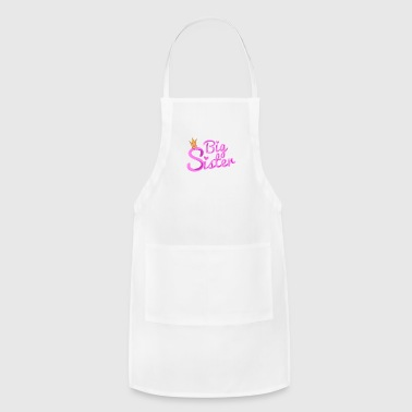 Big Brother Big Sister Big Sister with Crown - Adjustable Apron