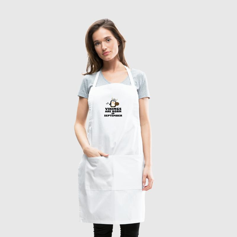 Vikings are born in September Szu23 - Adjustable Apron