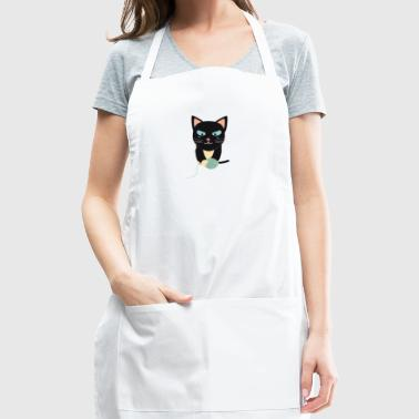 Cat with Ball of Wool - Adjustable Apron