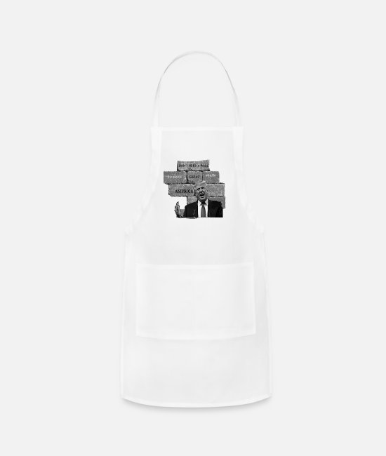 Red Aprons - Trump Doesn't Need A Wall To Make America Great. - Apron white