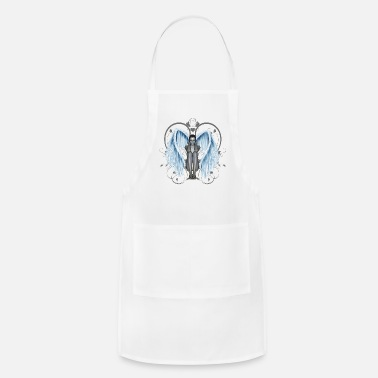 Blue Wings Beautiful fairy with blue wings - Apron