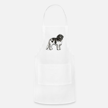 Brown Happy Newfoundland Dog - Dogs - Cartoon - Gift - Apron