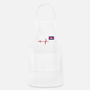 Siem Reap Heartbeat Cambodia flag gift - Adjustable Apron