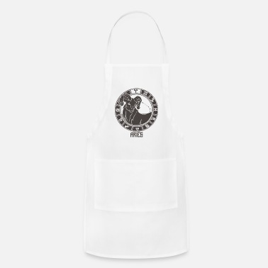 Chinese Symbols Aries Zodiac Sign Symbol March April Birthday - Apron