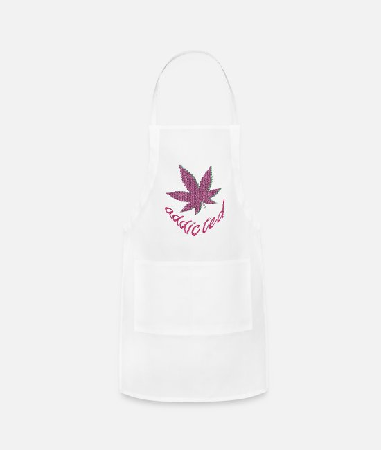 Hashish Aprons - addicted - Apron white