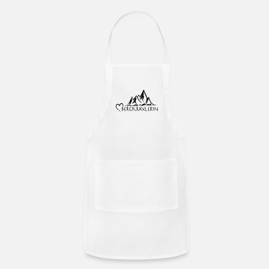 Dialect Berg Herz Bergkraxlerin dialect dialect saying - Apron