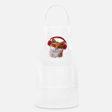 Fox in headphones - Apron