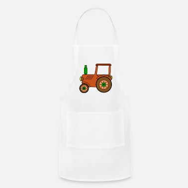 Toy brown toy tractor / toy tractor - Apron