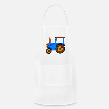 Toy toy tractor / blue toy tractor - Adjustable Apron