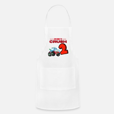 Im I'm Going To Crush 2 Second 2nd Birthday For Kids - Apron
