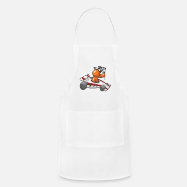 Checkers Race Car Checkered Flag - Adjustable Apron