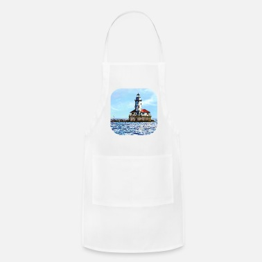 Lighthouse Chicago IL - Chicago Harbor Light - Apron
