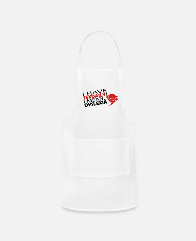 Mean Aprons - DailySex - Apron white