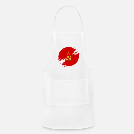Patriot Aprons - USSR blurry circle / Soviet Union - Apron white