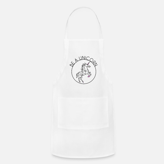 Magic Aprons - BE A UNICORN (coloured) - Apron white