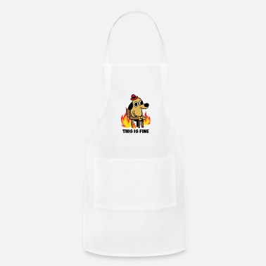 This is fine dog meme existence is pain - Apron