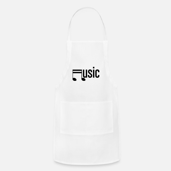 Song Aprons - Music Pop Rock Jazz Gospel Rhythm Gift Idea - Apron white