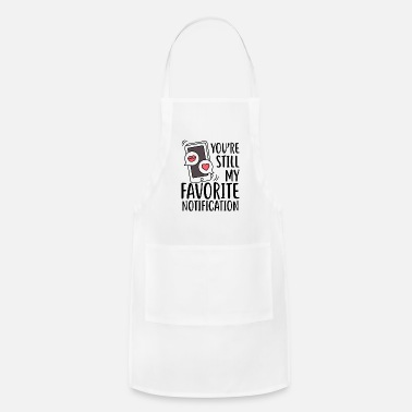 Mobile Phone Couple love in love cellphone valentines day gift - Apron