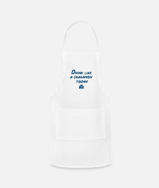 Fighting Aprons - Drink Like a Champion - Apron white