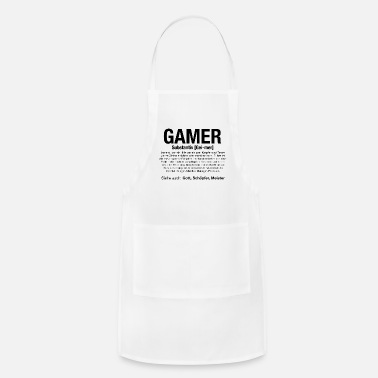 Console Gaming Gamer Video Games PC Computer MMORPG Gift - Adjustable Apron