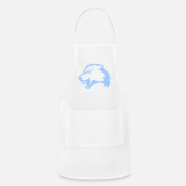 Drawing Abstract Wolf Design - Adjustable Apron