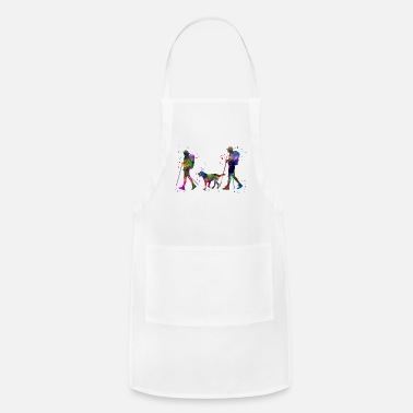 Couples Traveling as a couple, couple, couple traveling - Adjustable Apron