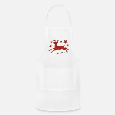 Red Deer Red Christmas Deer - Adjustable Apron